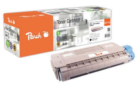 Peach  Tonermodul schwarz kompatibel zu OKI C 710 DTN