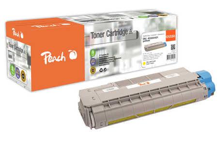 Peach  Tonermodul gelb kompatibel zu OKI C 5800 DN