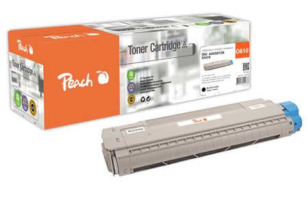 Peach  Tonermodul schwarz kompatibel zu OKI C 830 CDTN