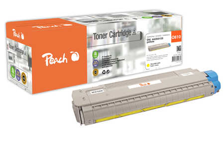 Peach  Tonermodul gelb kompatibel zu OKI C 830 CDTN