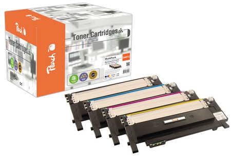 Peach  Spar Pack Tonermodule kompatibel zu Samsung CLP-320 N