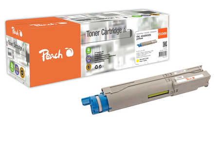 Peach  Tonermodul gelb kompatibel zu OKI C 3300