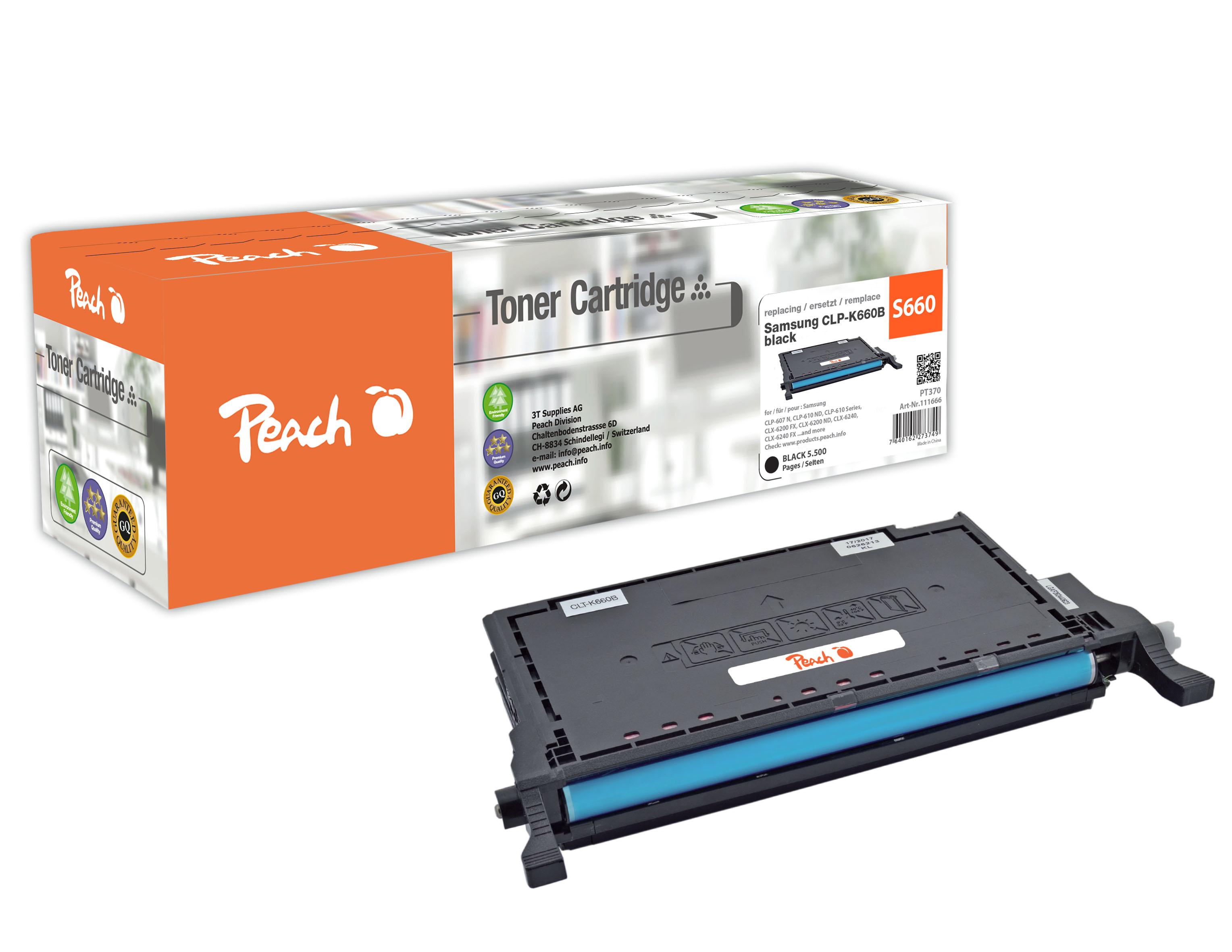 Peach  Tonermodul schwarz kompatibel zu Samsung CLP-610 ND