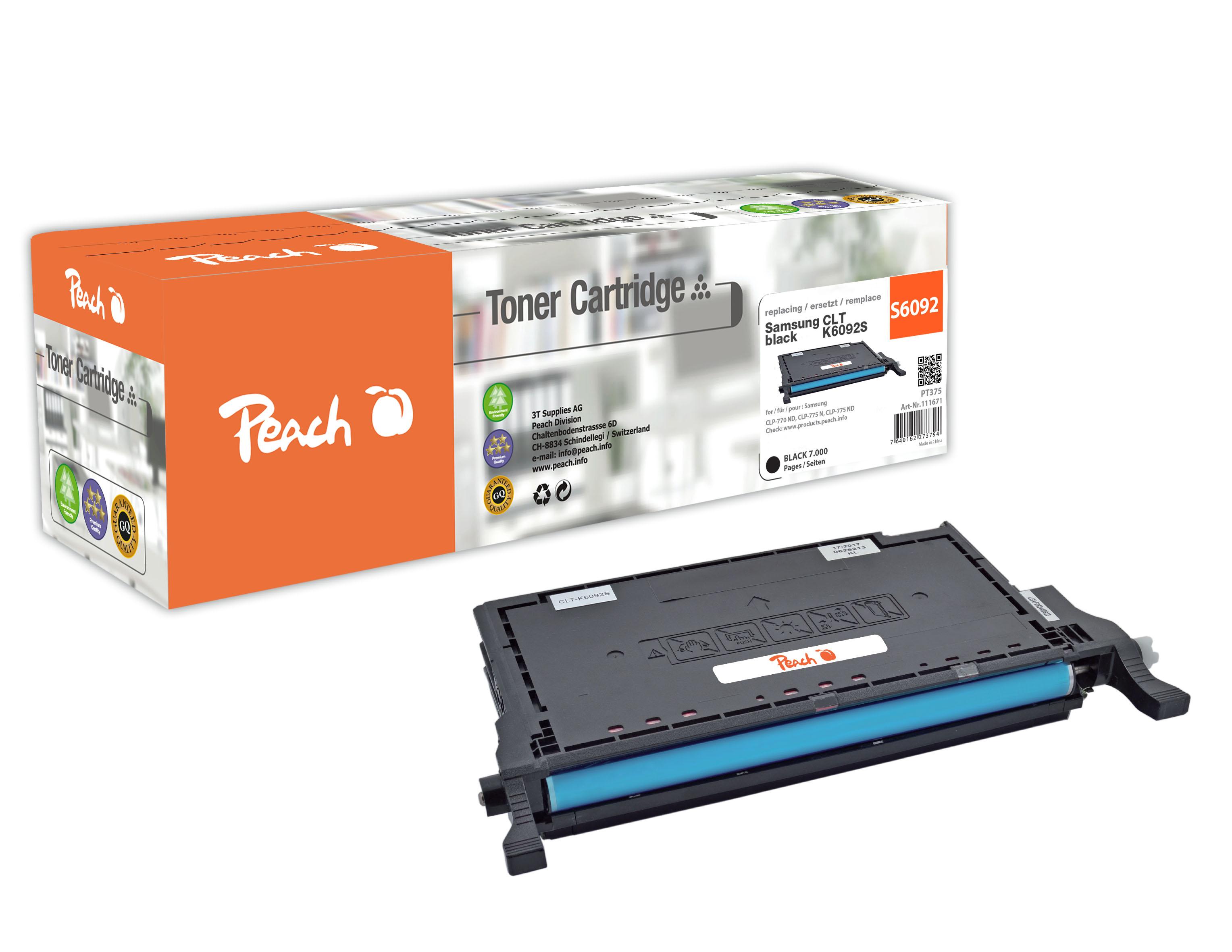 Peach  Tonermodul schwarz kompatibel zu Samsung CLP-775 ND