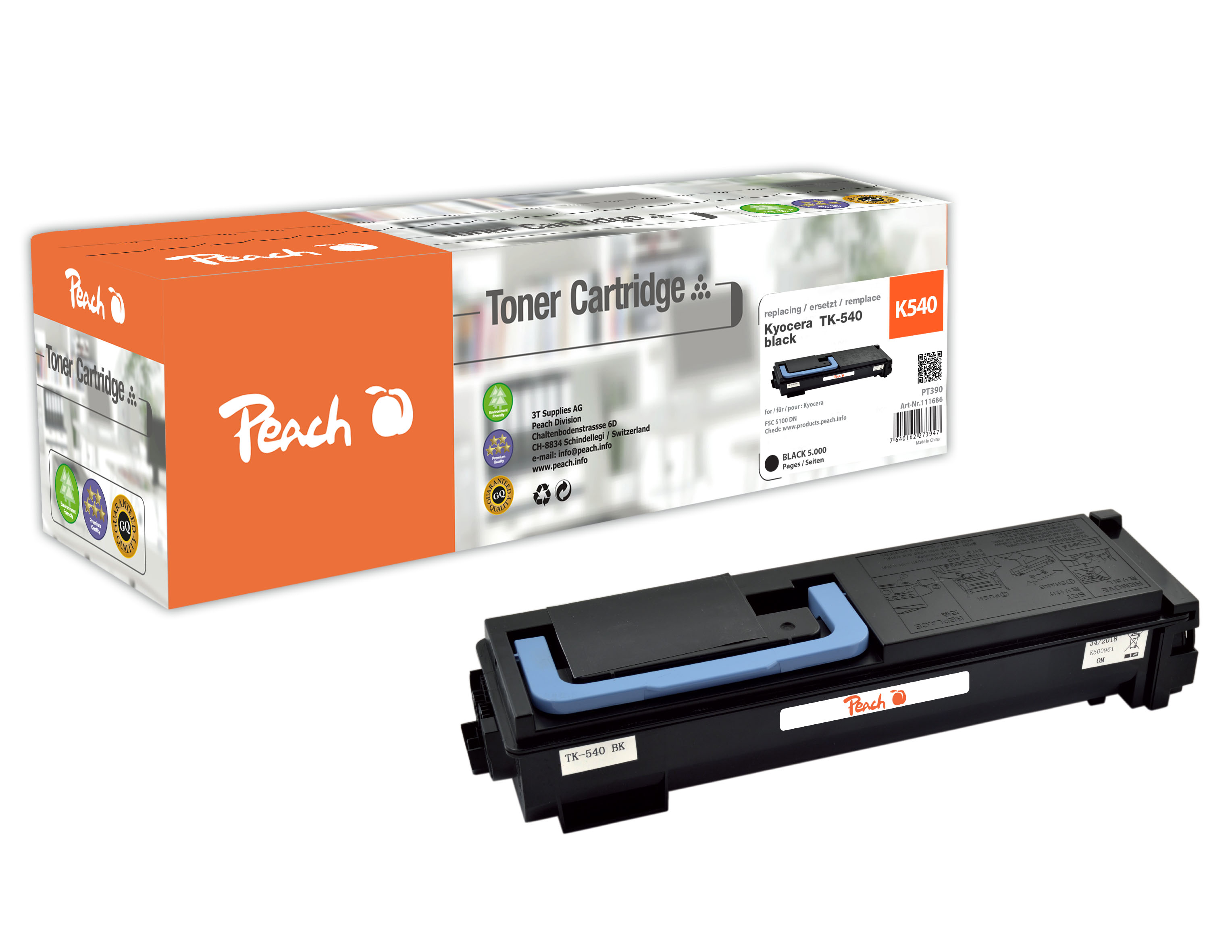 Peach  Tonermodul schwarz kompatibel zu Kyocera FSC 5100 DN