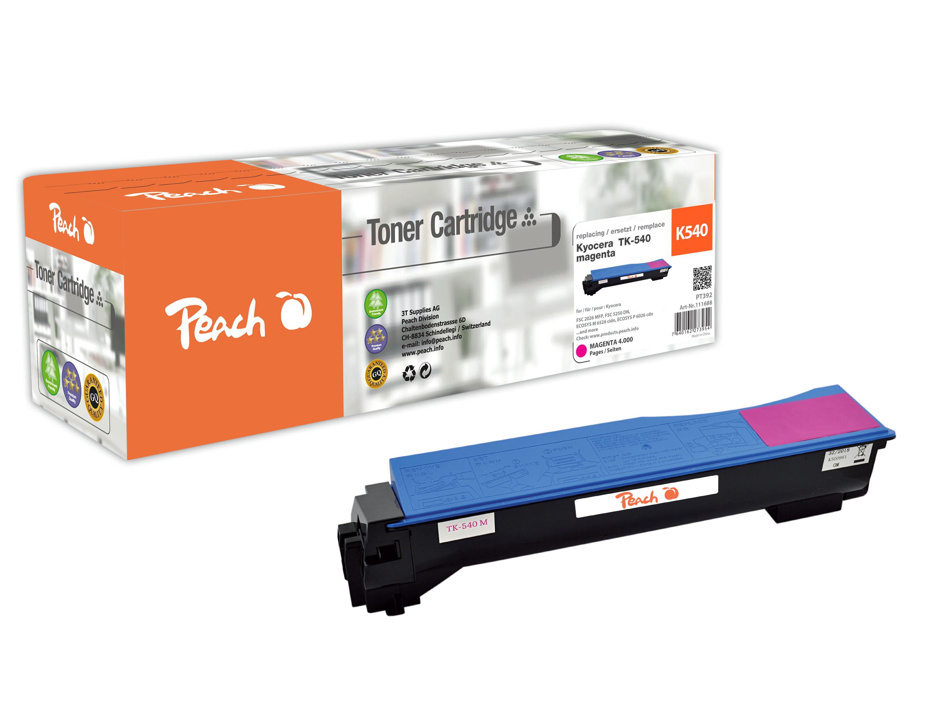 Peach  Tonermodul magenta, kompatibel zu Kyocera FSC 5100 DN