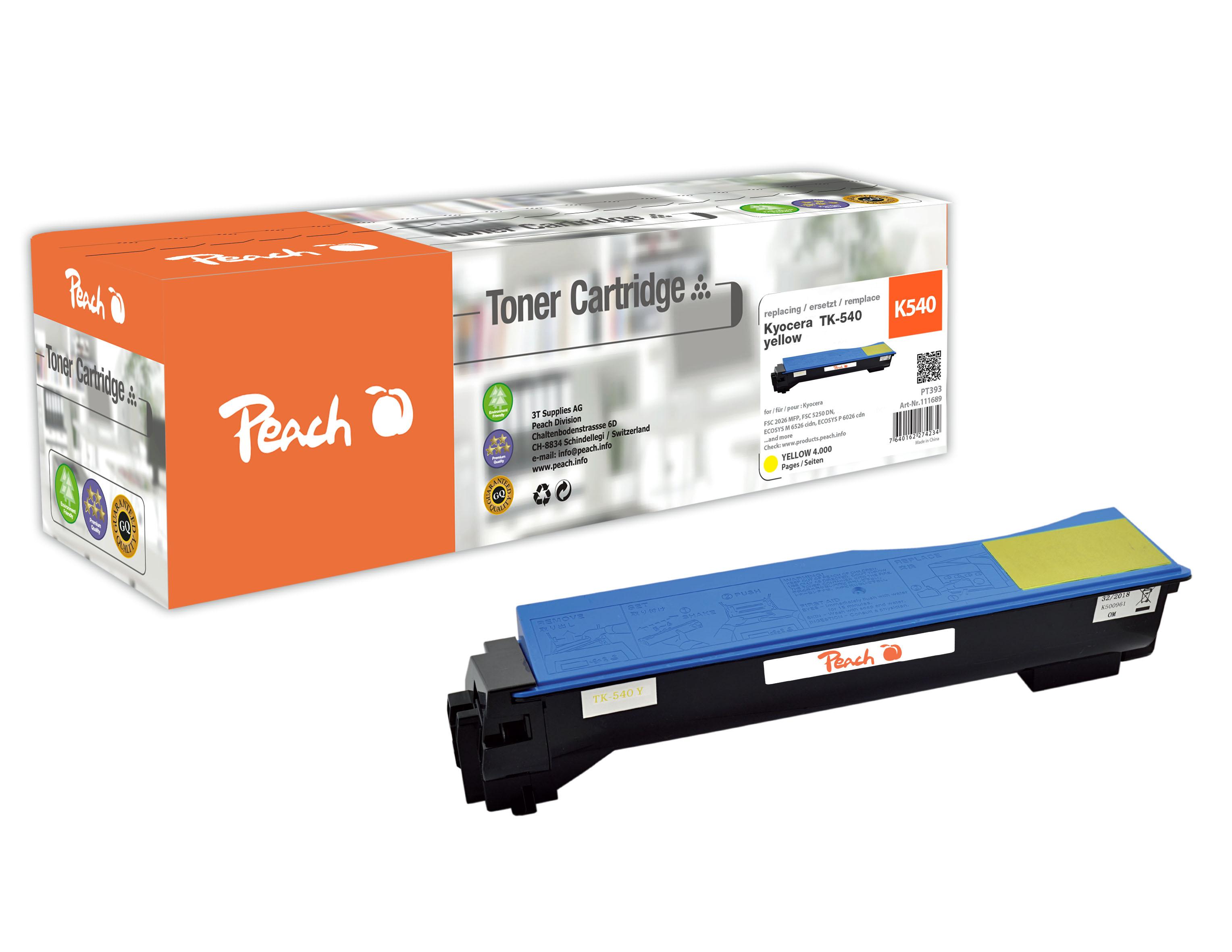Peach  Tonermodul gelb kompatibel zu Kyocera FSC 5100 DN