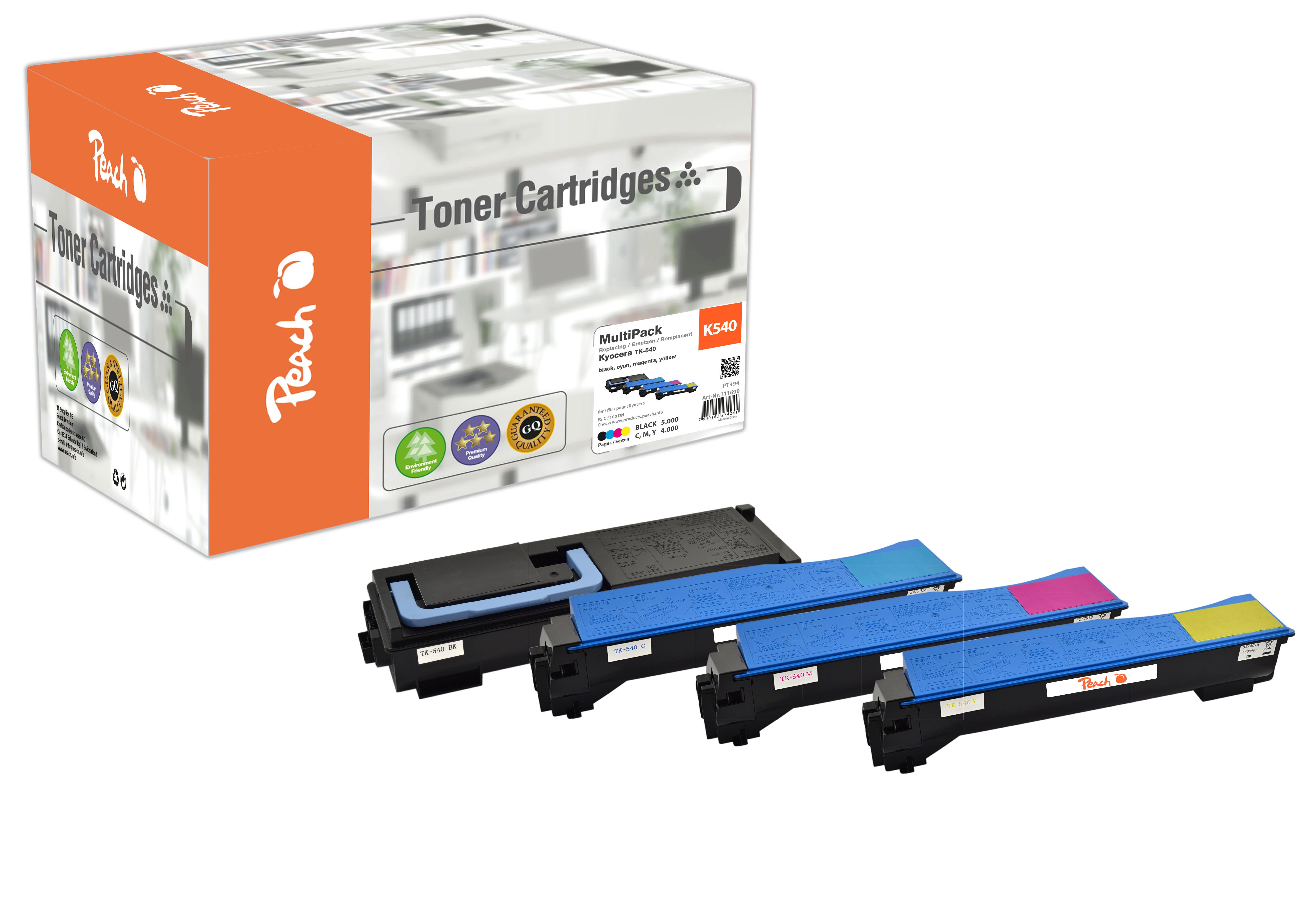 Peach  Spar Pack Tonermodule kompatibel zu Kyocera FSC 5100 DN
