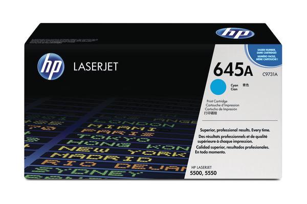 Original  Tonerpatrone cyan HP Color LaserJet 5550 Series