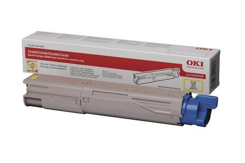 Original  Tonerpatrone gelb OKI C 3300
