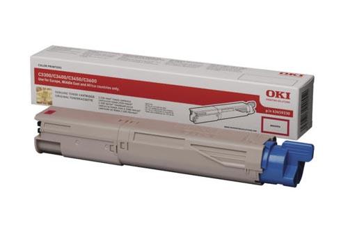 Original  Tonerpatrone magenta OKI C 3300