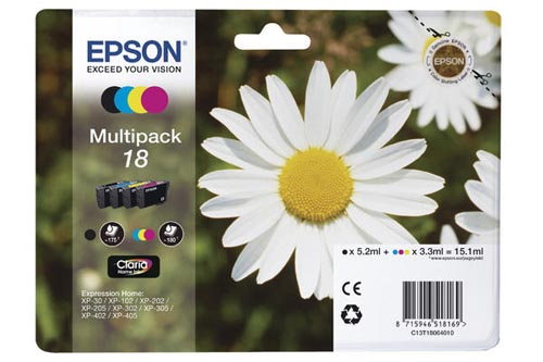 Original  Multipack Tinte BKCMY Epson Expression Home XP-302