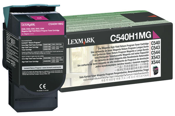 Original  Tonerpatrone magenta Lexmark C 544 DN
