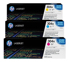Original 3  Tonerpatronen CMY (Rainbow-Kit) HP Color LaserJet CM 2320 FXI MFP
