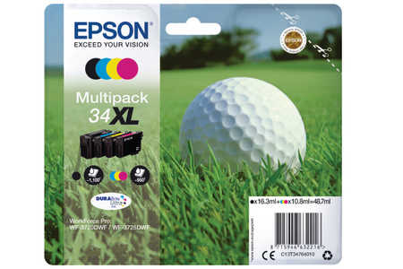 Original  Multipack Tinte BKCMY Epson WorkForce Pro WF-3700 Series