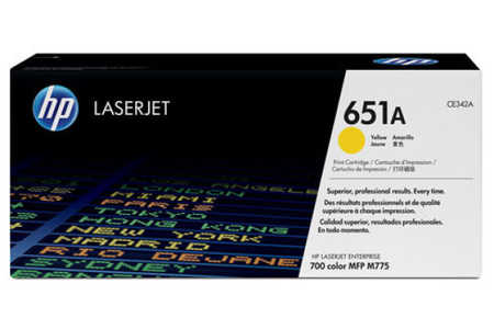 Original HP LJ Pro Enterprise M775, yellow, OEM HP Color LaserJet Managed MFP M 770 Series