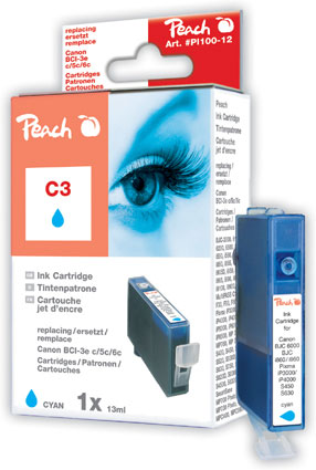 Peach  Tintenpatrone cyan kompatibel zu Canon I 560