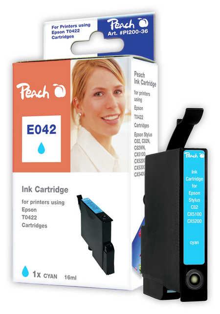 Peach  Tintenpatrone cyan kompatibel zu Epson Stylus C 82