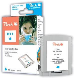 Peach  Tintenpatrone cyan kompatibel zu HP Business InkJet 1000