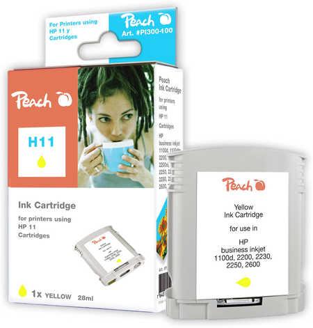 Peach  Tintenpatrone gelb kompatibel zu HP Business InkJet 1000