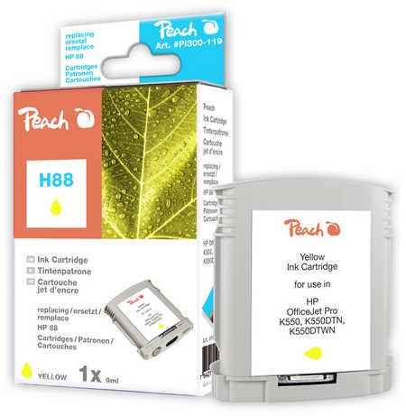 Peach  Tintenpatrone gelb kompatibel zu HP OfficeJet Pro K 550