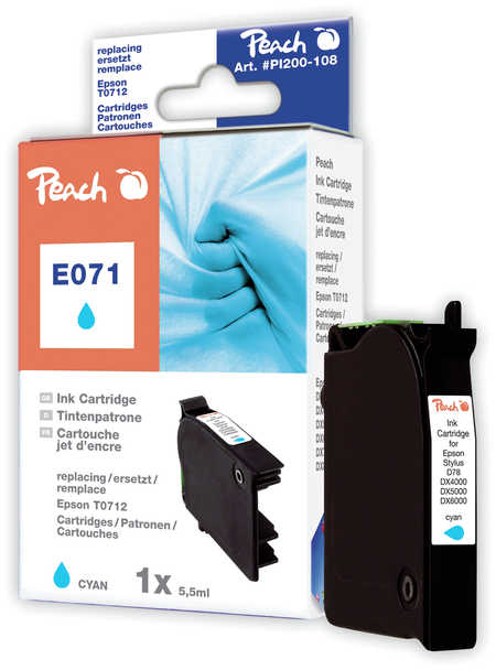 Peach  Tintenpatrone cyan kompatibel zu Epson Stylus D 78