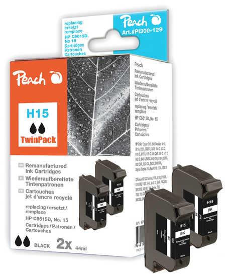Peach  Doppelpack Druckköpfe schwarz kompatibel zu HP DeskJet 810 C