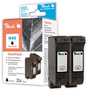 Peach  Doppelpack Druckköpfe schwarz kompatibel zu HP DeskJet 959 C