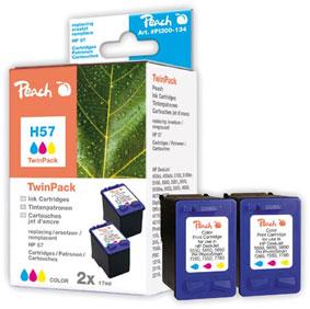 Peach  Doppelpack Druckköpfe color kompatibel zu HP DeskJet 9680