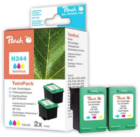 Peach  Doppelpack Druckköpfe color kompatibel zu HP DeskJet 5740