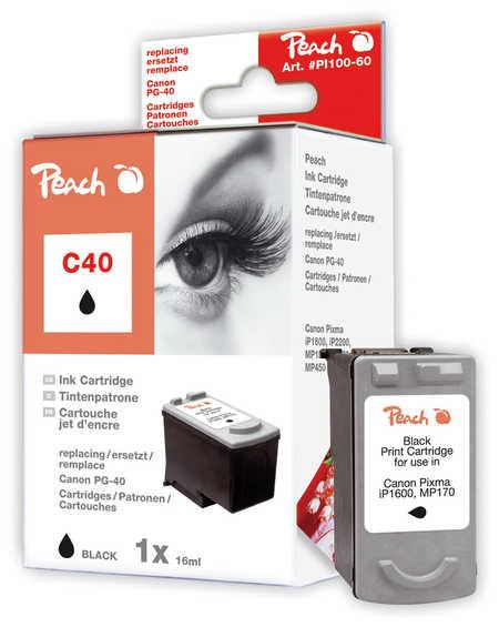 Peach  Druckkopf schwarz kompatibel zu Canon Pixma IP 1600