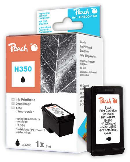 Peach  Druckkopf schwarz kompatibel zu HP OfficeJet J 6488