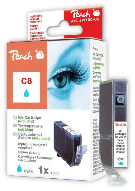 Peach  Tintenpatrone cyan kompatibel zu Canon Pixma IP 4200
