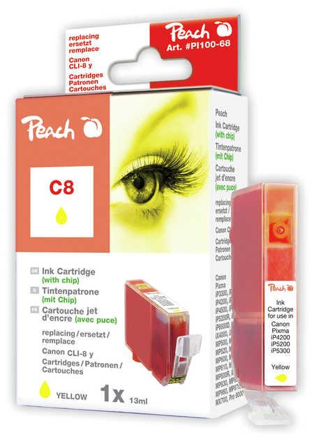 Peach  Tintenpatrone gelb kompatibel zu Canon Pixma IP 4200