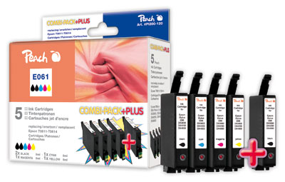Peach  Spar Pack Plus Tintenpatronen kompatibel zu Epson Stylus DX 4850