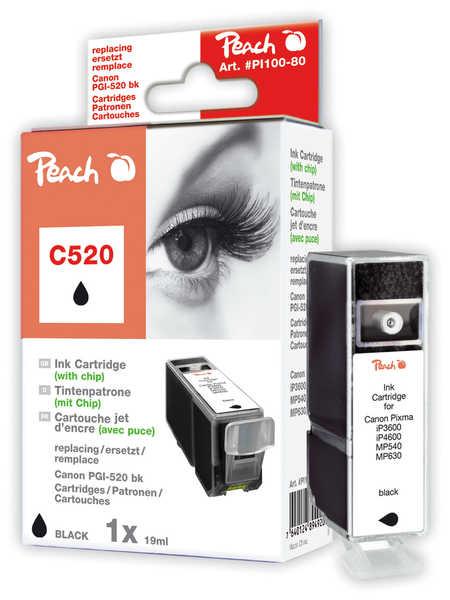 Peach  XL-Tintenpatrone schwarz kompatibel zu Canon Pixma MP 620