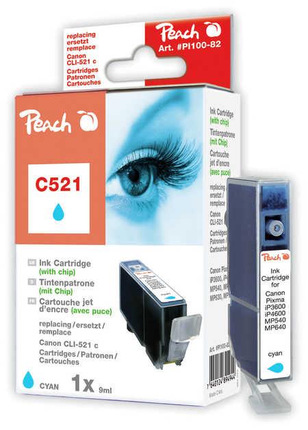 Peach  XL-Tintenpatrone cyan kompatibel zu Canon Pixma MP 620
