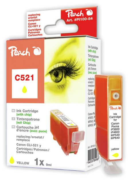Peach  XL-Tintenpatrone gelb kompatibel zu Canon Pixma MP 620