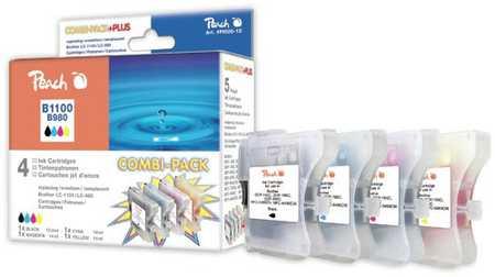 Peach  Spar Pack Tintenpatronen kompatibel zu Brother DCP-163 C