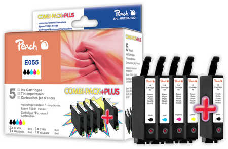 Peach  Spar Pack Plus Tintenpatronen kompatibel zu Epson Stylus Photo RX 420