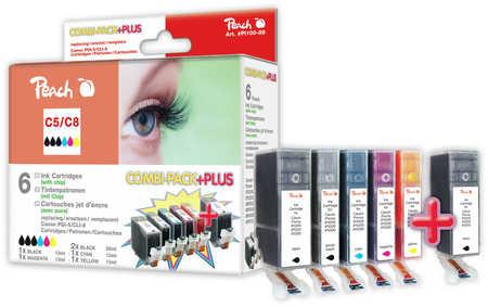 Peach  Spar Pack Plus Tintenpatronen kompatibel zu Canon Pixma IP 4200