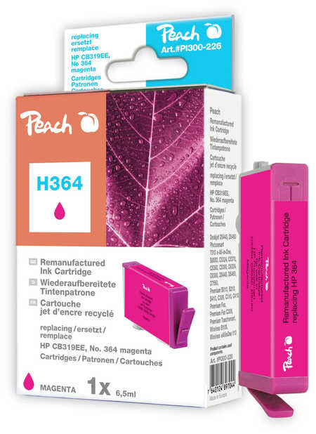 Peach  Tintenpatrone magenta kompatibel zu HP PhotoSmart C 5390