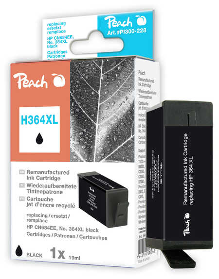 Peach  Tintenpatrone schwarz kompatibel zu HP PhotoSmart C 5390