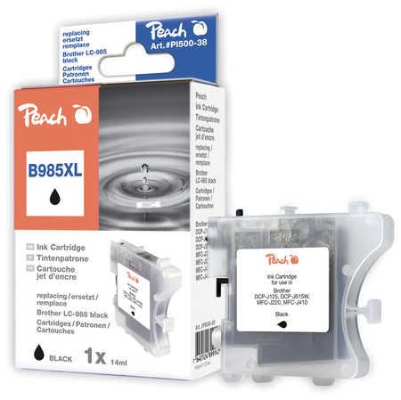 Peach  Tintenpatrone schwarz, XL-Ergiebigkeit, kompatibel zu Brother MFCJ 410