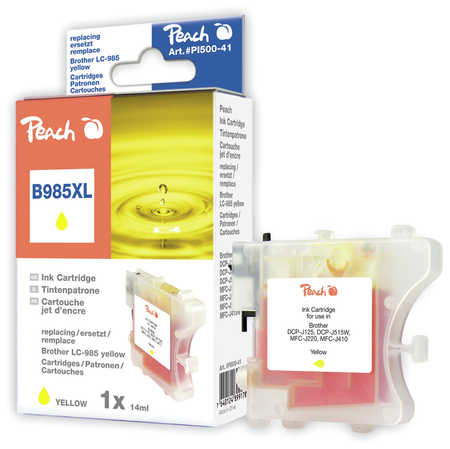 Peach  Tintenpatrone gelb kompatibel zu Brother MFCJ 410