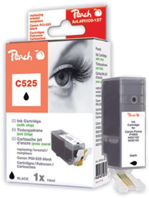Peach  XL-Tintenpatrone schwarz kompatibel zu Canon Pixma MG 5150