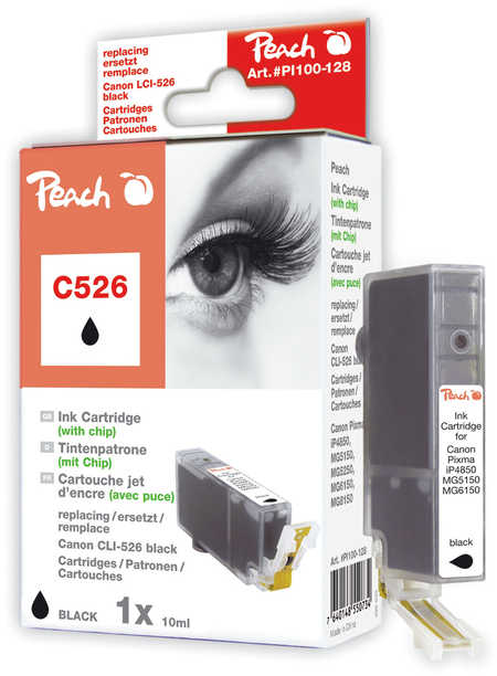 Peach  XL-Tintenpatrone foto schwarz kompatibel zu Canon Pixma MG 6150