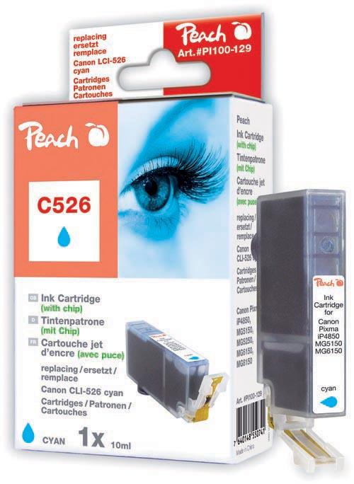 Peach  XL-Tintenpatrone cyan kompatibel zu Canon Pixma MG 6150