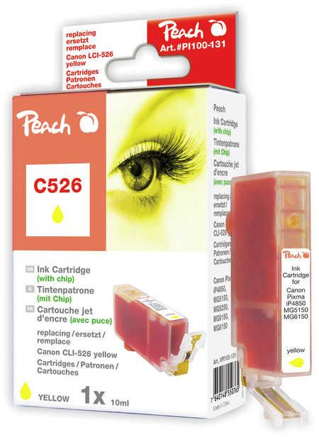 Peach  XL-Tintenpatrone gelb kompatibel zu Canon Pixma MG 5150