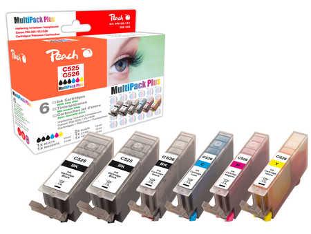 Peach  Spar Pack Plus Tintenpatronen, XL-Ergiebigkeit, kompatibel zu Canon Pixma MG 6150